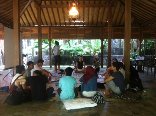 Workshop Session im SaRanG Building in Yogyakarta, Bildqulle: KUNCI