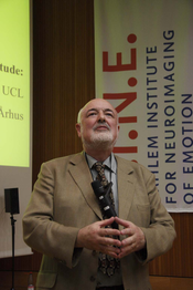 "5 | Professor Chris Frith held the inaugural speech on ""Facial Expressions""."